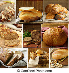 Set assortment of bread