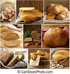 Set assortment of bread
