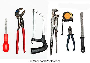 set, attrezzi, lavoro metallurgico