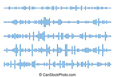 Set audio line. eps 10 vector illustration