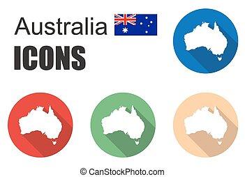 set australia icons