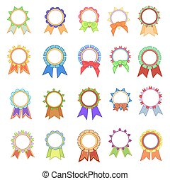 Set Awards Ribbons Icons.