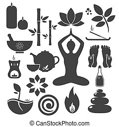 ayurveda - Set ayurveda icons. Vector illustration. Ayurveda...
