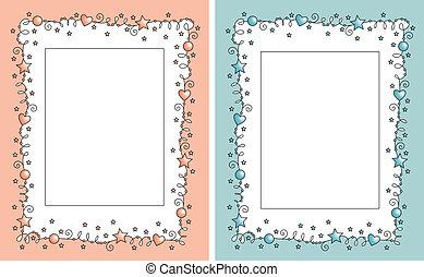 set baby photo frame - set vector baby photo frame