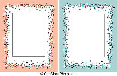 set baby photo frame - set vector baby photo frame