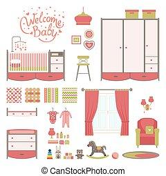 Set baby room
