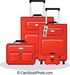 set, bagage