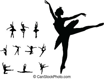 set, ballo, ragazza, balletto