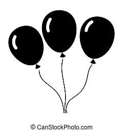 Set balloons icon
