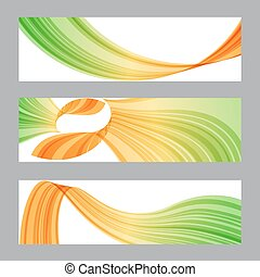 Set banners, wavy shape