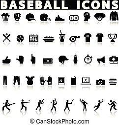 set., base-ball, icônes
