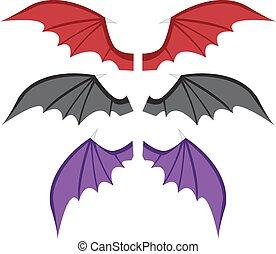 Set Bat wings in color