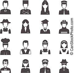 set, beroep, avatar