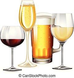 set, bevande, alcolico