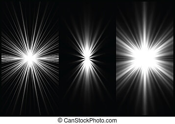 Set Black and White Lighting background. Vector - Set Black ...