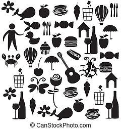 Set black color icons