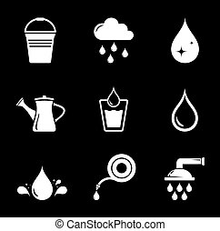 set black watering icons