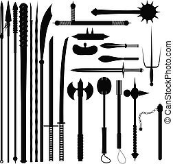 Set bladed weapons