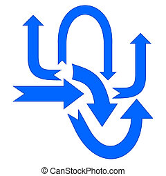 set blue arrow