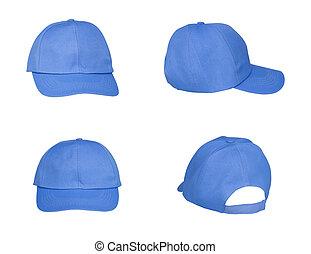blue hat isolated on white background
