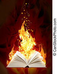 Set - books of four elements. Book of magic fire