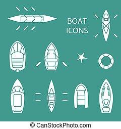 set., bote, ícones