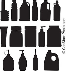 set, bottiglia, vettore