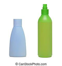 set, bottiglie, cosmetico