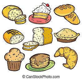 set, bread, scarabocchiare