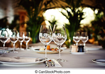 set, bril, lege, restaurant