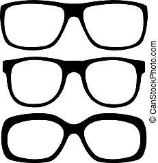 set, brillen