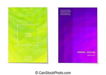 set, broshure, manifesto, scheda, moderno, neon, forme, ...