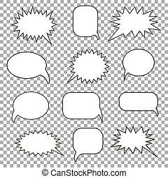 Set bubble speech. Vector illustration