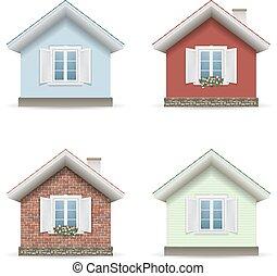 Set building facades