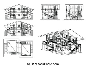 Set building. Vector