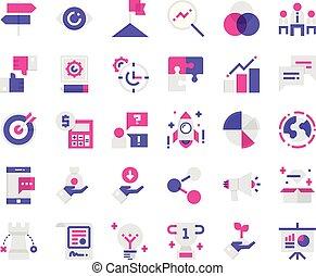 set., business, icône