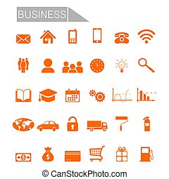 Set business icons - Business icons: phone, adress, money,...