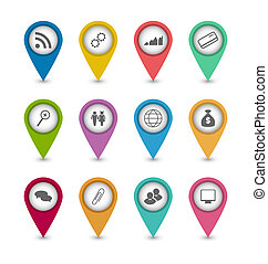 Set business infographics icons for design website layout