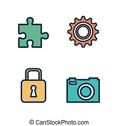 set business work icons