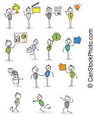 set businessman activity vector