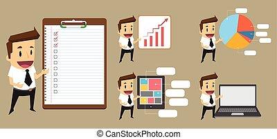 Set Businessman giving a presentation
