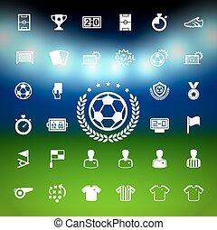 set., calcio, icone