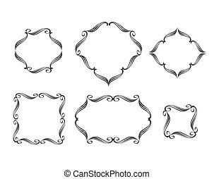 Set calligraphic frames