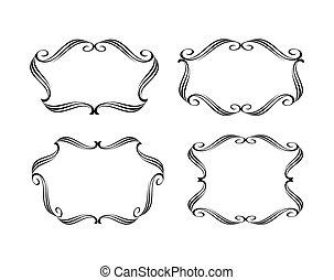 Set calligraphic frames .