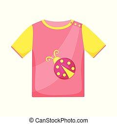 set, camicia, tshirt, vettore, disegno, icon., casato, bambini, illustration.