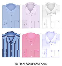 set, camicia, uomini