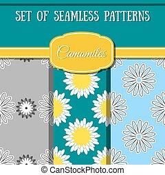 Set Camomiles Patterns