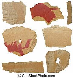Set Cardboard Scraps