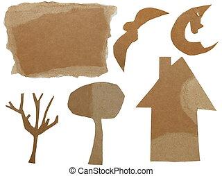 set Cardboard Scraps Halloween