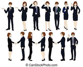 Set Cartoon Business People No.2